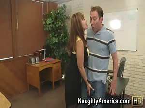 Miss Devine kills some time before class by seducing her student